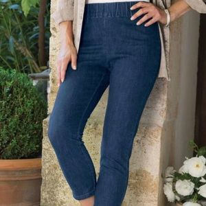 Soft Surroundings Metro Pull On Crop Jeans Sz  L